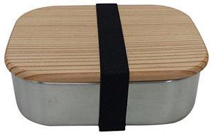 木蓋付きフードボックス M お弁当箱 木蓋付き ステンレス製 弁当箱の1枚目の写真