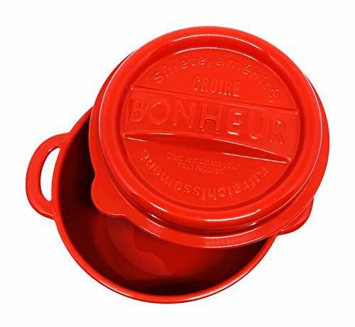 ランチポット プラスチック製 LL(550ml) レッド ボヌールの1枚目の写真