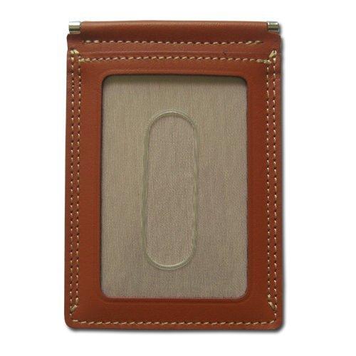 牛革パスケース.裏表ワンタッチ切り替え キャメルの1枚目の写真