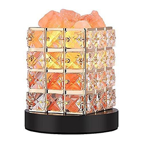 Lucktao テーブルランプ センサー 水晶岩塩ランプ 天然塩製ランプ 安眠効果 おしゃれ クリスタル 調光 空気浄化 天然のヒマラヤ塩灯水に塩を飾の1枚目の写真