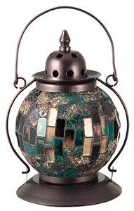 イシグロ 照明器具 21207 モザイクランプ クリムト ランタン型 グリーンの1枚目の写真