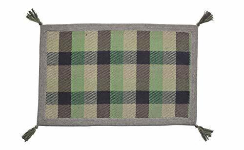 萩原 インド綿ウール混ボンディングマット メルモ 幅500×奥行800mm グリーン 270065606 1個の1枚目の写真