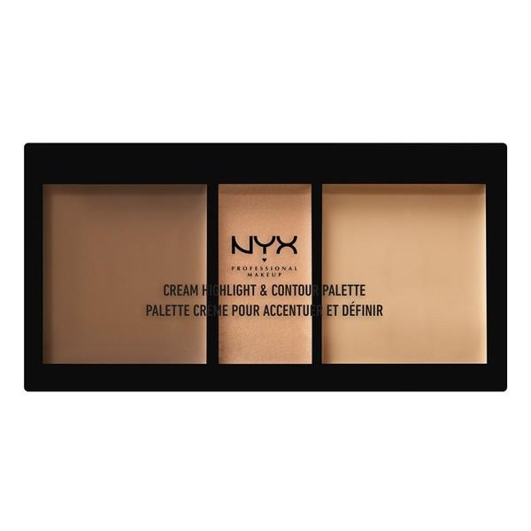クリーム ハイライト&コントゥアー パレット 02 カラー・ミディアム Highlight & Contour: 4.4g x 2 Shimmer: 2.2gの1枚目の写真