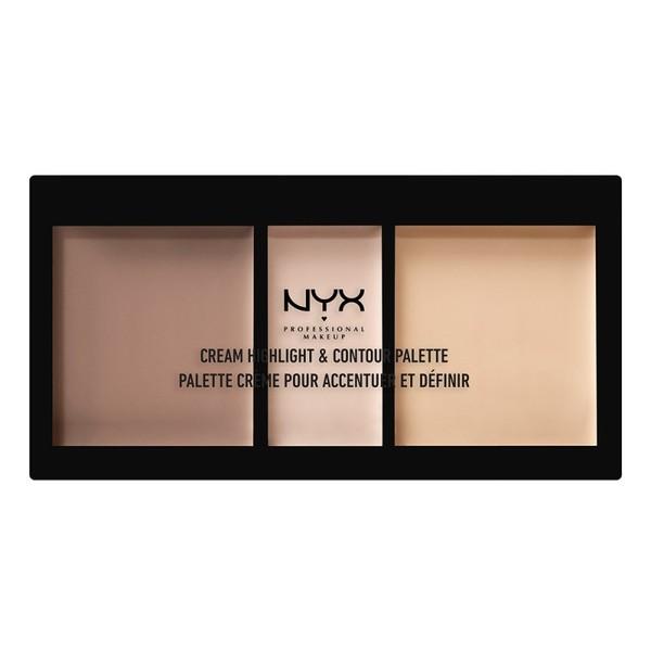 クリーム ハイライト&コントゥアー パレット 01 カラー・ライト Highlight & Contour: 4.4g x 2 Shimmer: 2.2gの1枚目の写真