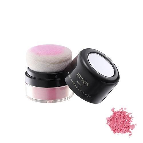 ポンポンミネラルチーク 本体 透明感のある青味ピンク 2gの1枚目の写真