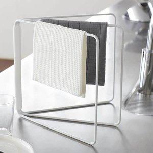 山崎実業 折り畳み布巾ハンガー タワー ホワイトの1枚目の写真
