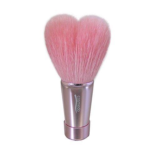 熊野筆 匠の化粧筆 コスメ堂 ハート型 洗顔ブラシ Mサイズ ピンク/ピンク(ピンク穂先/ツヤの1枚目の写真