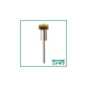 TRUSCO フラワー型ブラシ 真鍮 線径0.1X外径12X筒径8X軸径3 123F-3の1枚目の写真