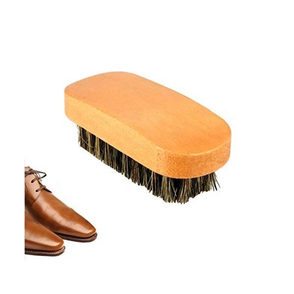 Honel 靴ブラシ 木製 シューズブラシ 靴磨き ブラシ 靴ブラシ 革靴 手入れ シューズブラシ 靴ケア用品の1枚目の写真