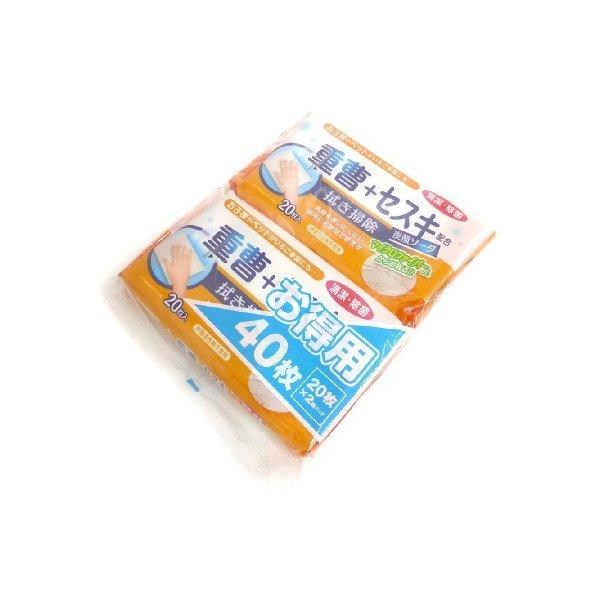 拭き掃除 重曹+セスキ配合 炭酸ソーダ お得用40枚の1枚目の写真